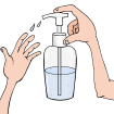 Gel hydroalcoolique Coronavirus- Covid-19